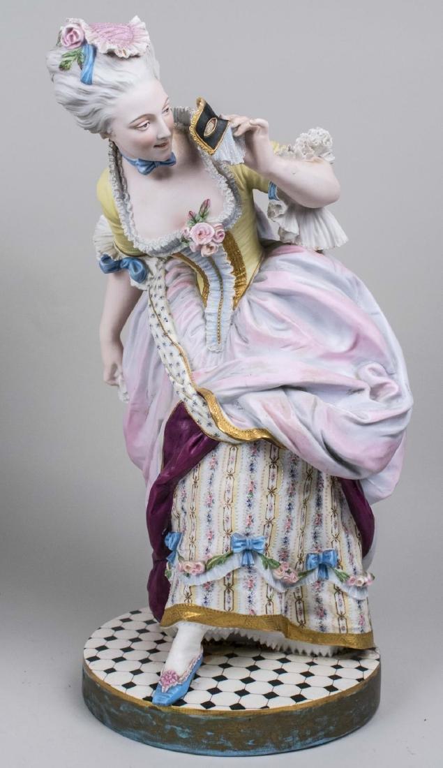 Pair of Bisque Porcelain Figures - 2
