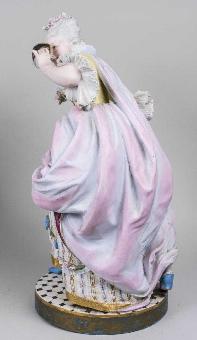 Pair of Bisque Porcelain Figures - 3