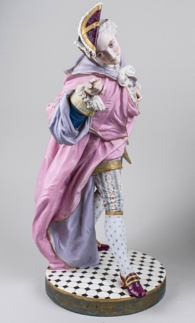 Pair of Bisque Porcelain Figures - 4