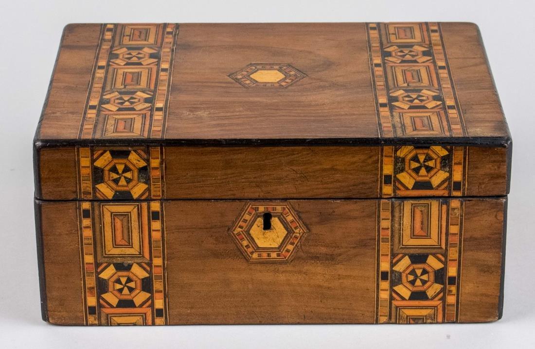 Victorian Wood Inlaid Box