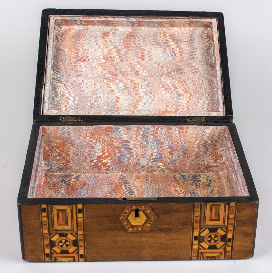 Victorian Wood Inlaid Box - 2