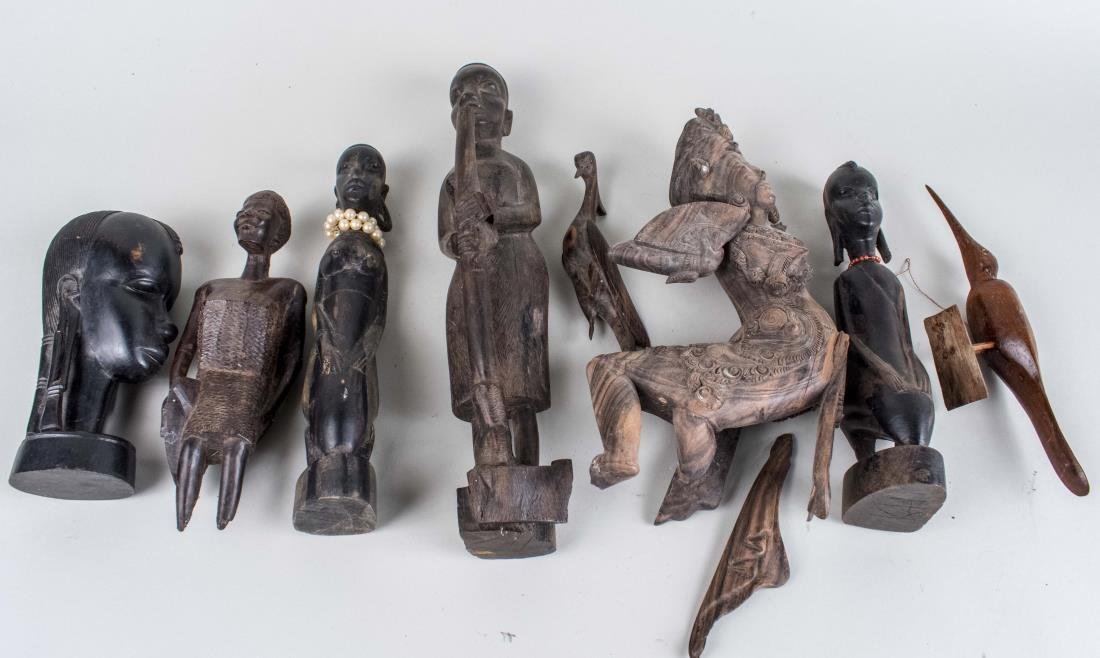 Group of Carved Wood African Figures