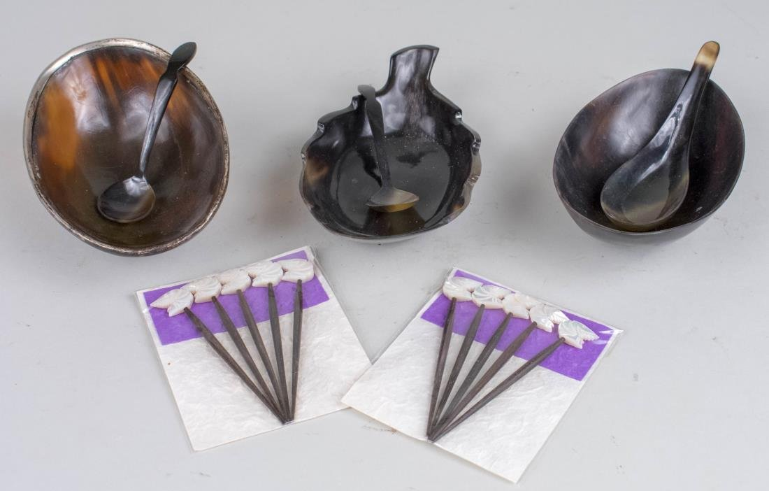 Horn Dishes and Spoons