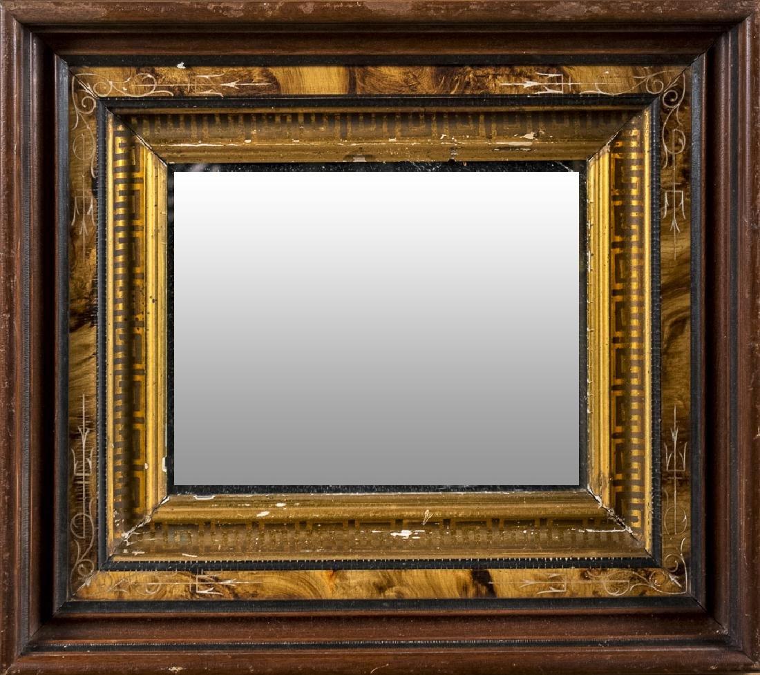 Victorian Rectangular Wood Mirror