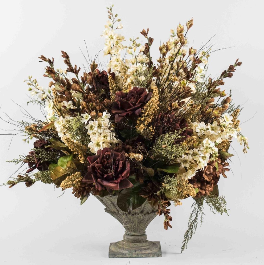 Large Elaborate Silk Floral Arrangement