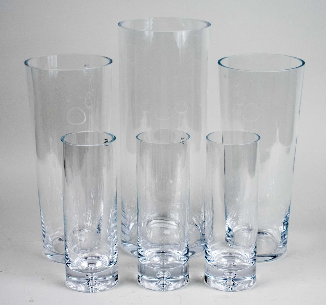 Nine Glass Vases