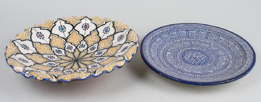 Two Middle Eastern Pottery Chargers
