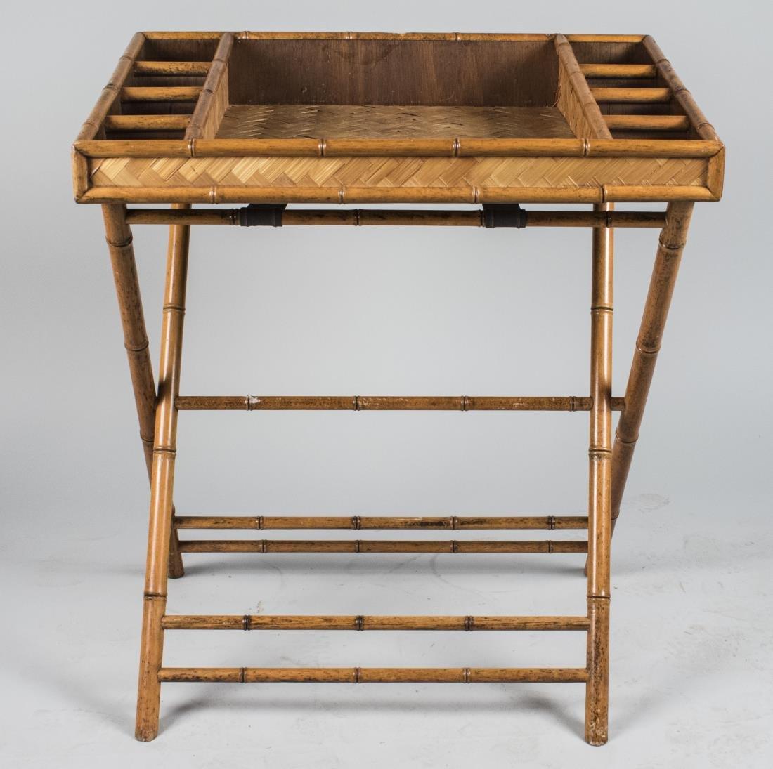 Faux Bamboo Folding Bar / Tray Table