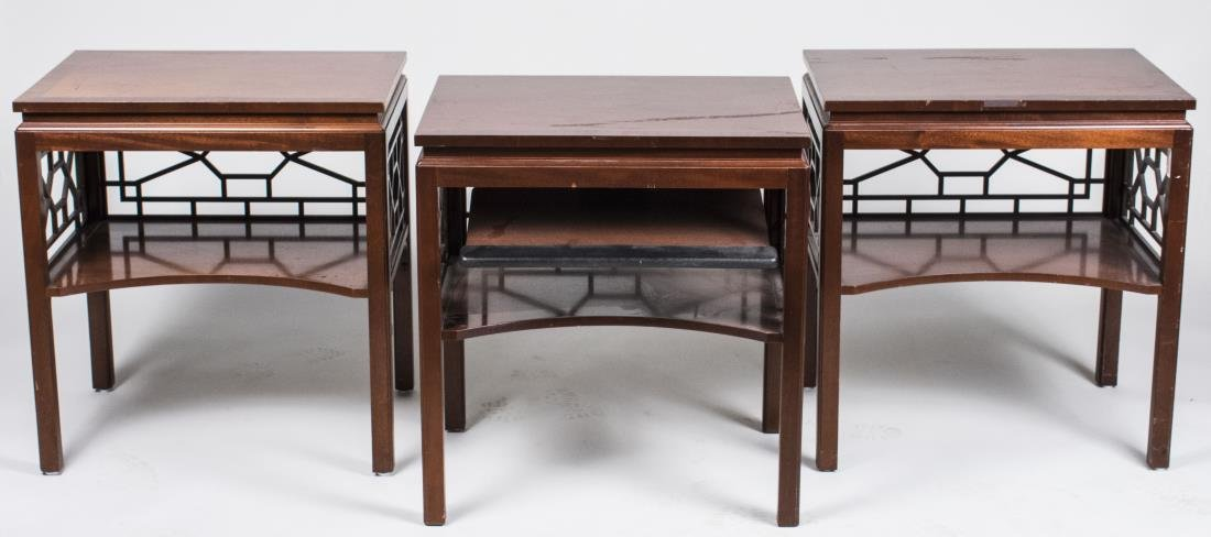 Three Baker Fruitwood Side Tables