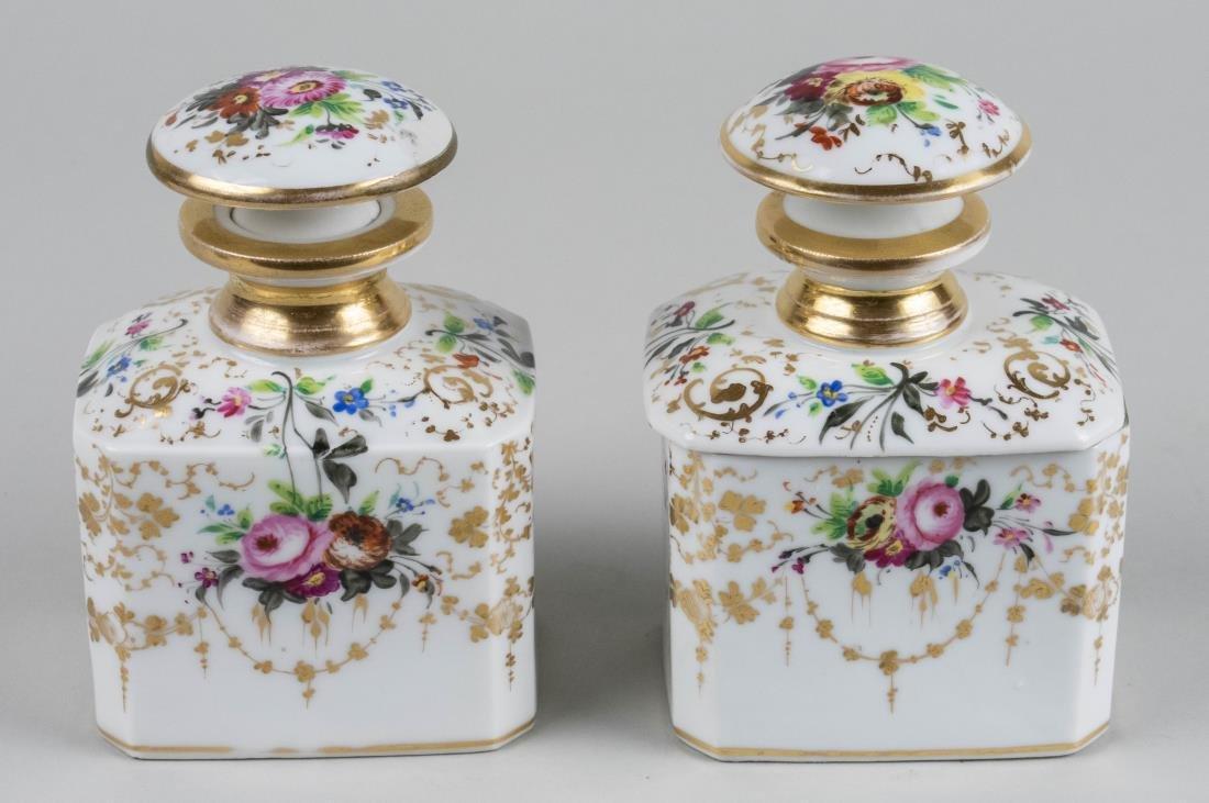 Pair of Porcelain Dresser Bottles