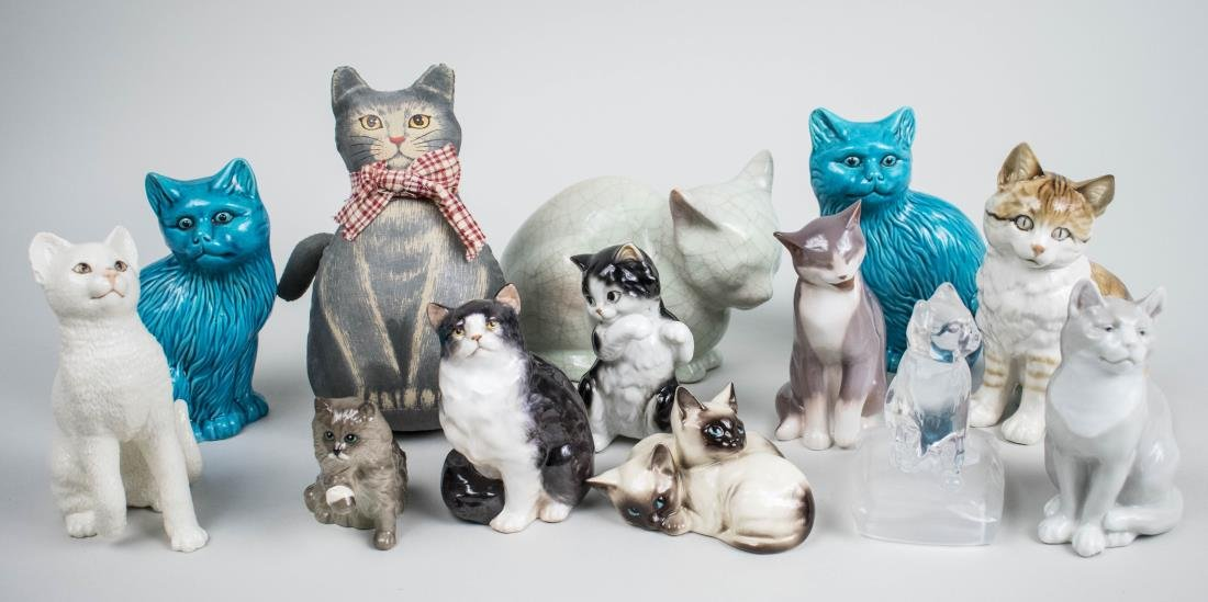 Group of Cat Figurines