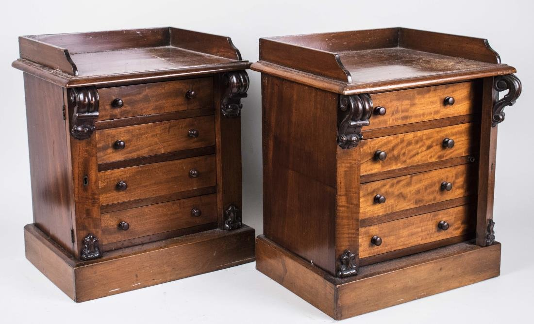 Pair of Miniature Wellington Chests