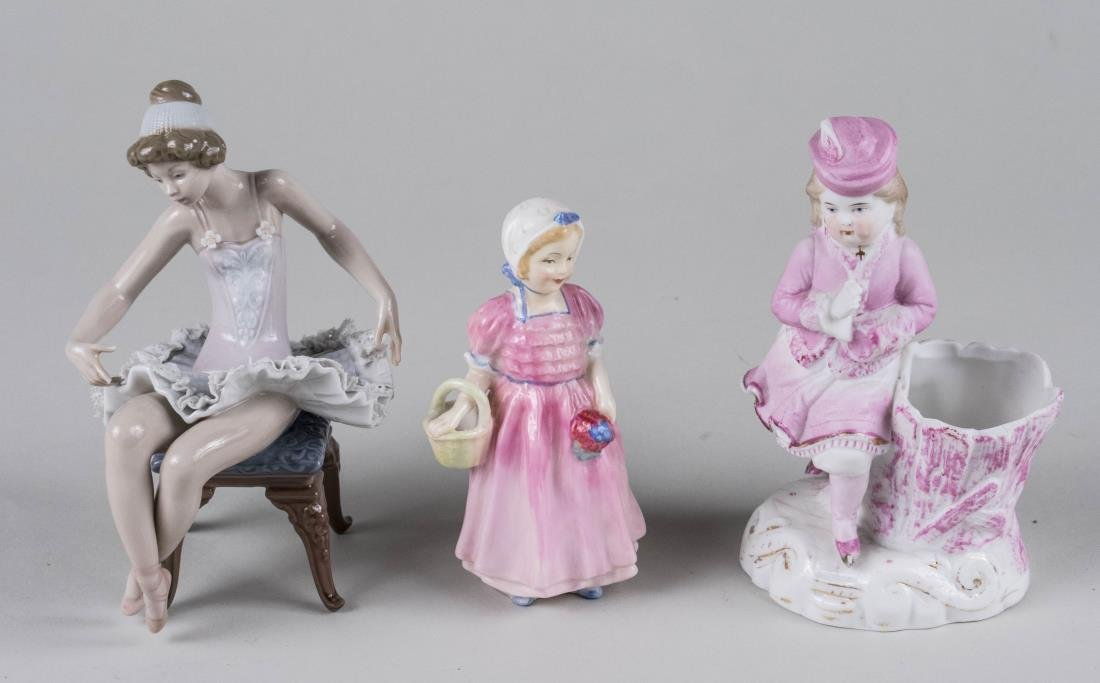 Three Porcelain Figures