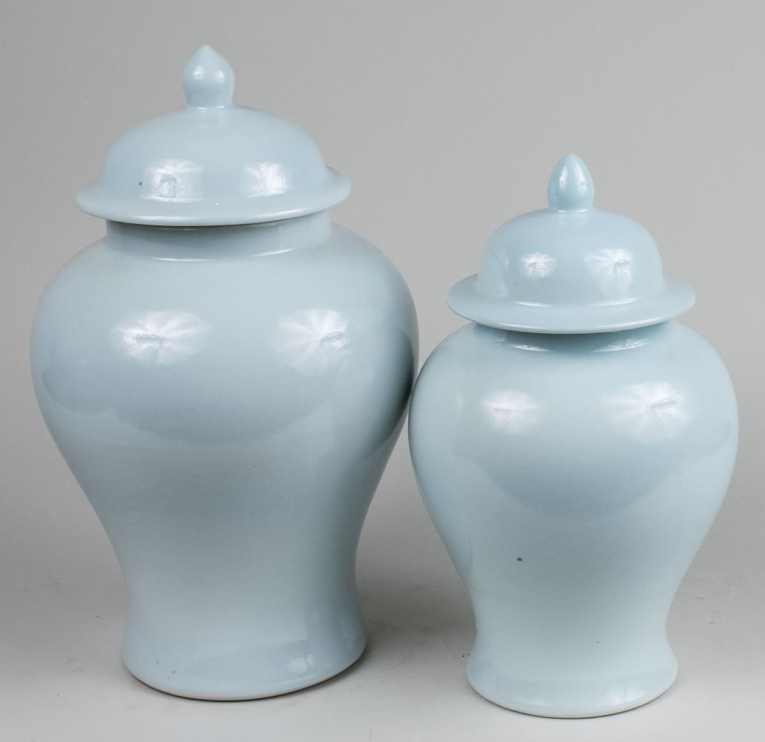 Two Porcelain Temple Jars