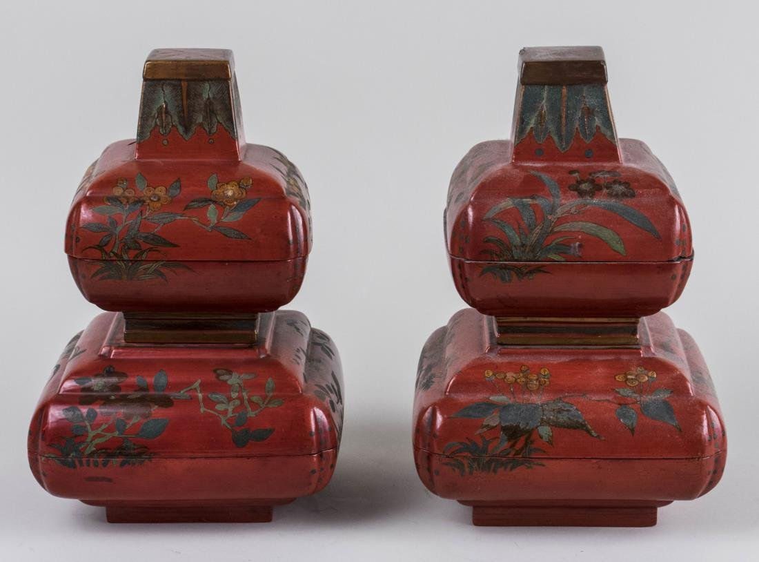 Pair of Chinese Lacquered Boxes
