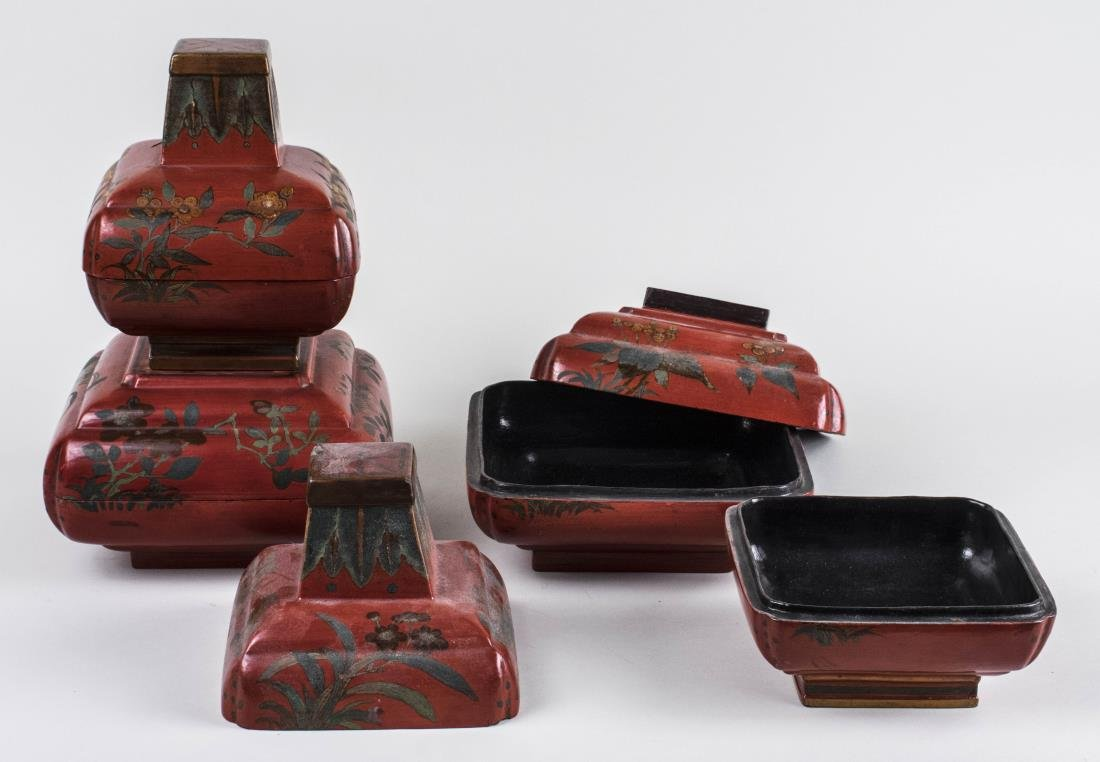 Pair of Chinese Lacquered Boxes - 2