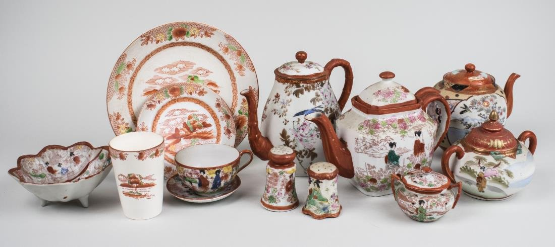 Assembled Japanese Porcelain Dinner Service