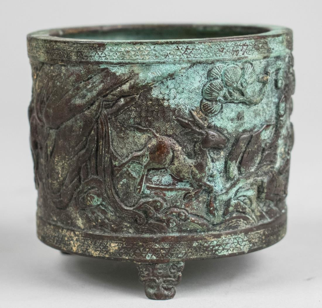 Chinese Bronze Brush Pot   *