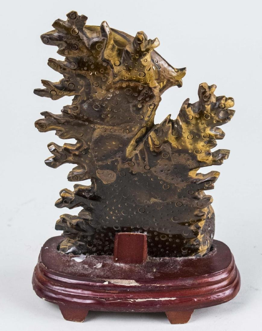 Chinese Carved Tiger Eye Sculpture - 2