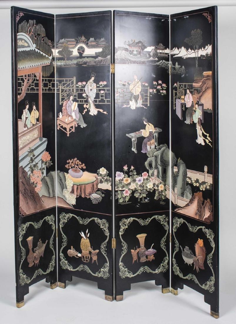 Chinese Coromandel Floor Screen