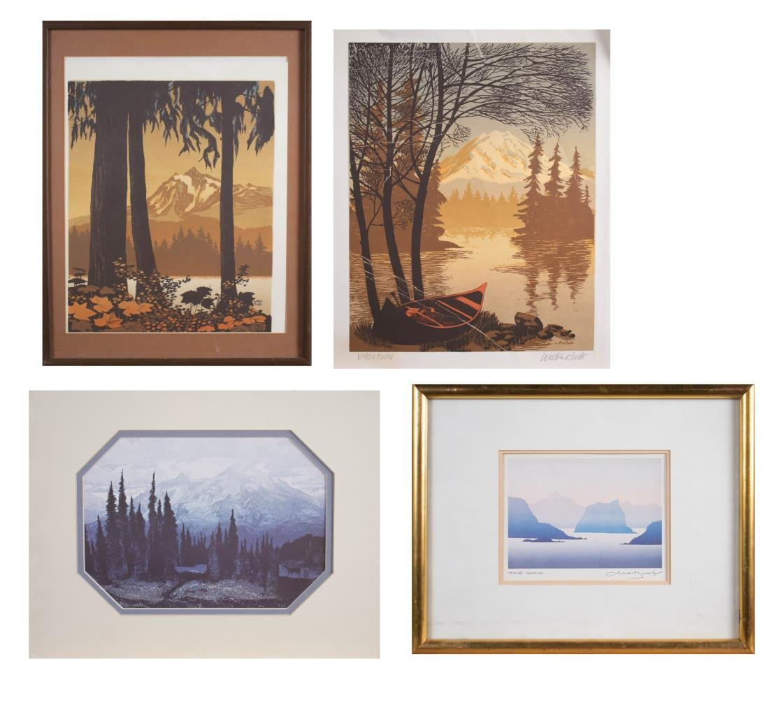 Group of Landscape Prints (20th Century)