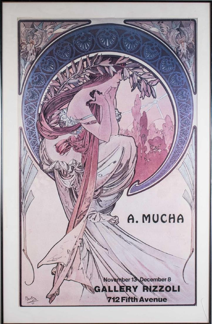 Gallery Rizzoli Mucha Exhibition Poster (20th C)