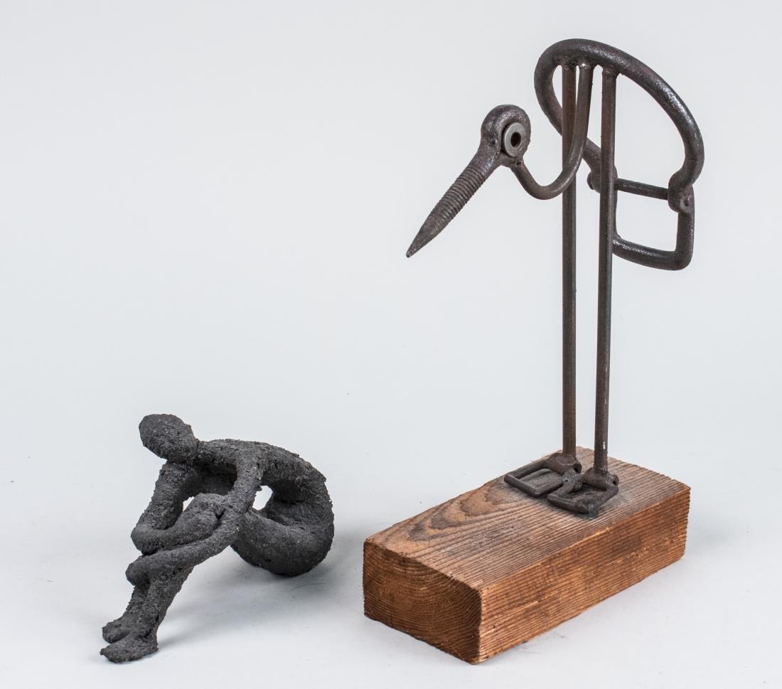Two Bronzed Metal Sculptures