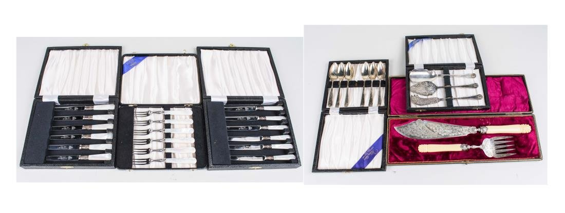 Five Boxed Sets of Flatware