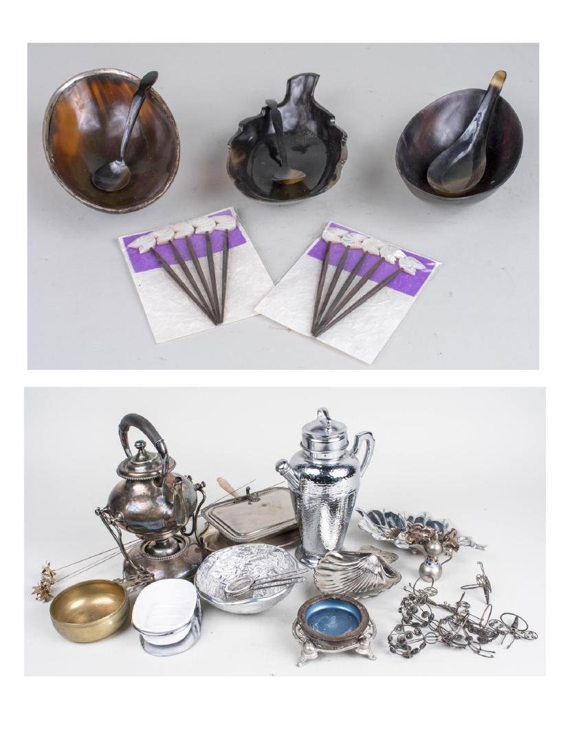 Group of Silver & Silver Plated Table Articles