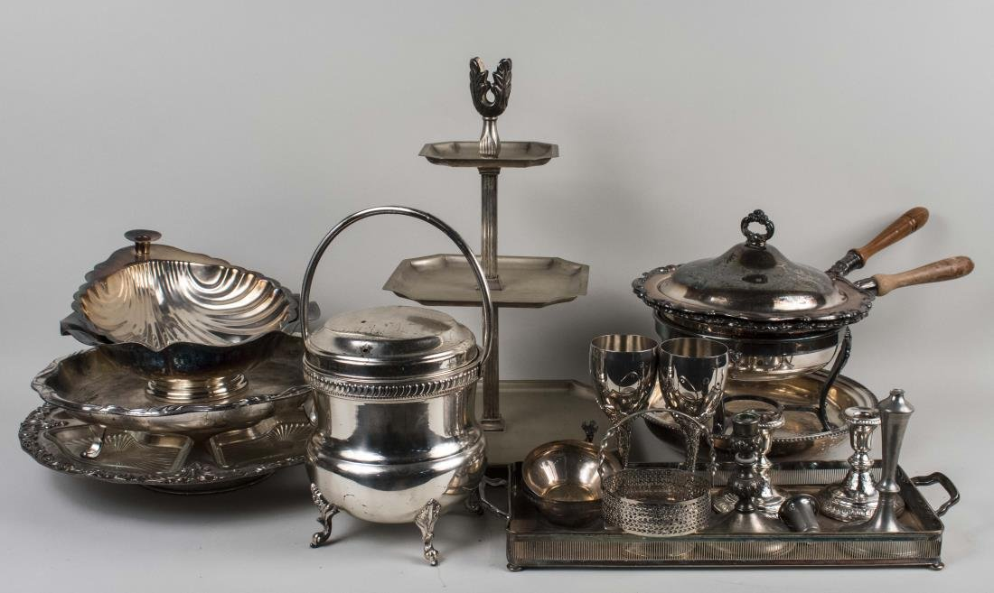 Group of Silver Plated Articles