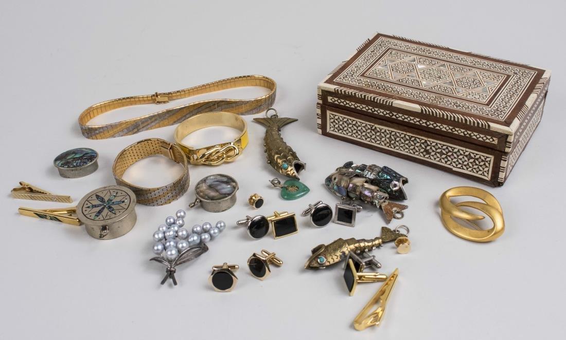 Group of Jewelry & Box