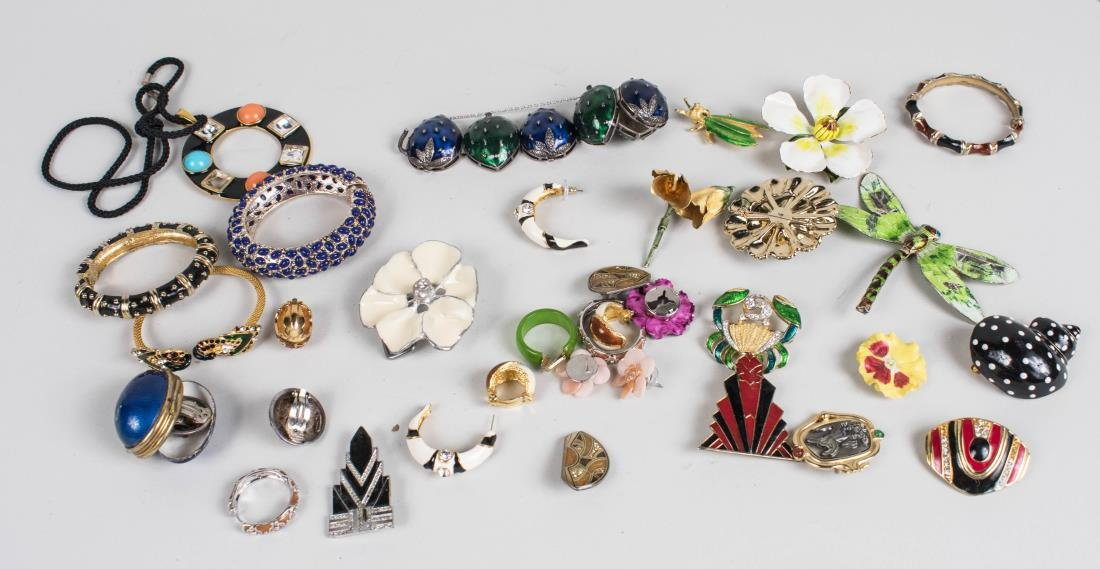 Group of Enamel Jewelry
