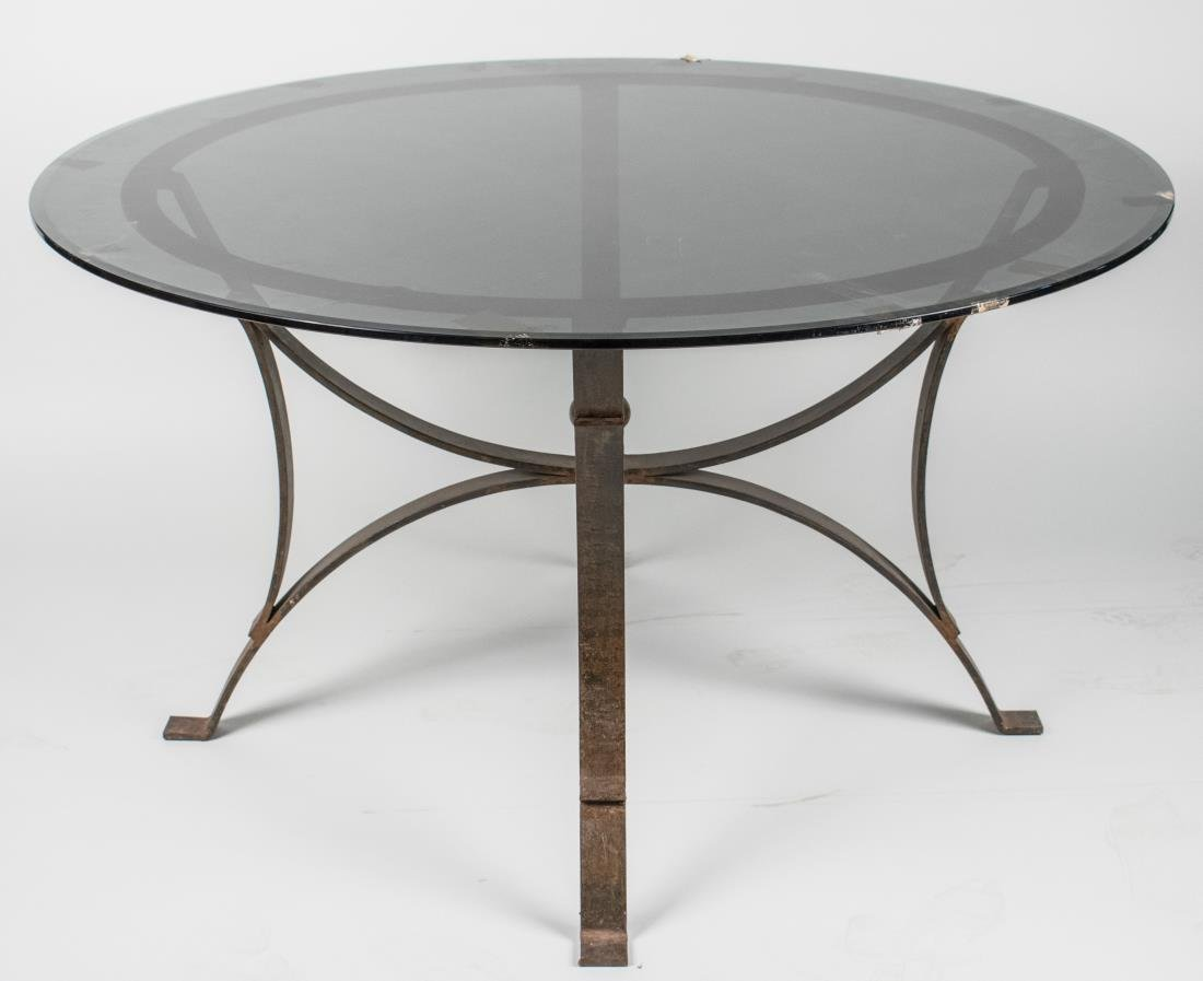 Glass Top Metal Table