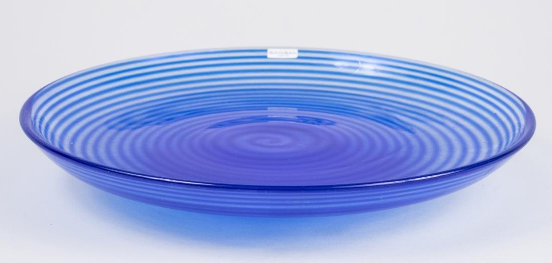 Kosta Boda Glass Circular Pedestal Tray