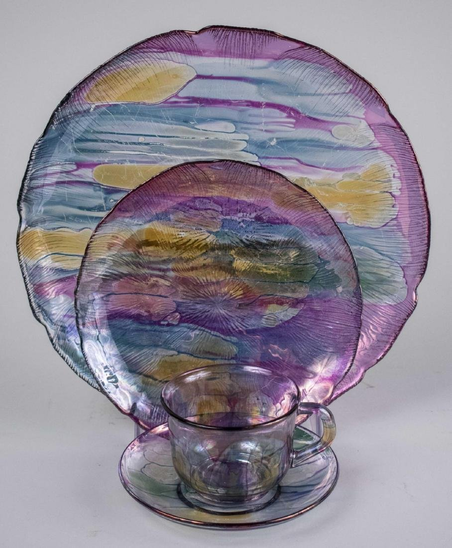 French Glass Dinner Service