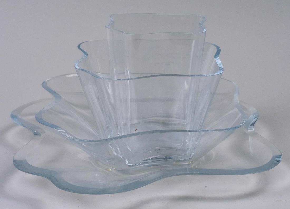 Set of Four Alvar Aalto Glass Dishes