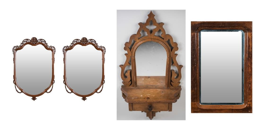 Four Vintage Decorative Mirrors