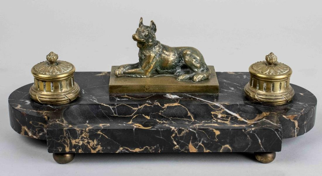 French Marble Ink Stand