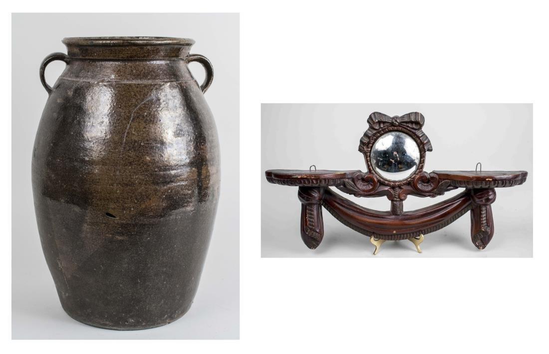 Mirror Bracket & Pottery Jug