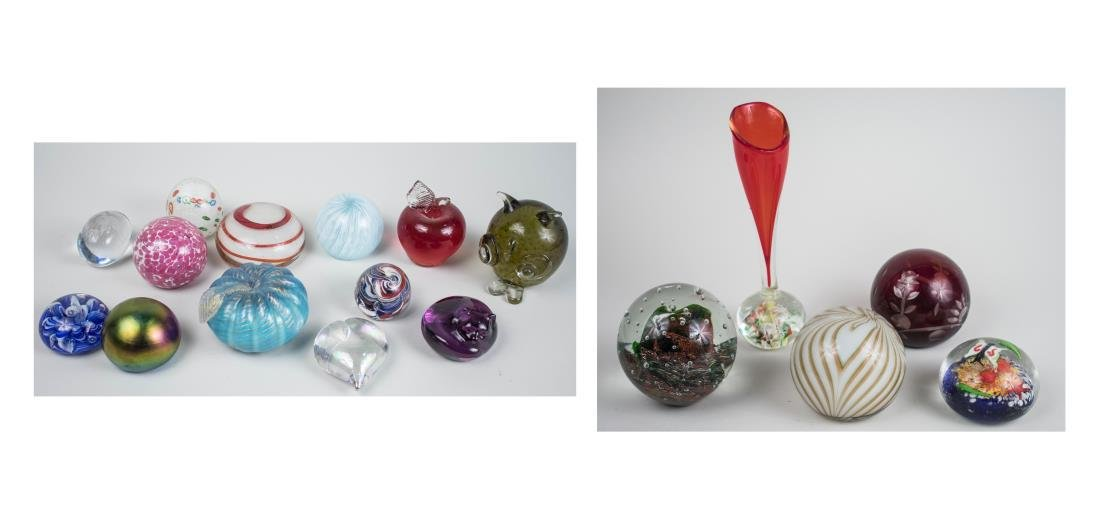 Group of Paperweights and Dumps
