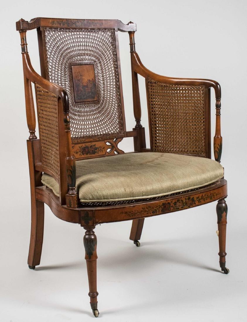 Regency Style Caned Armchair