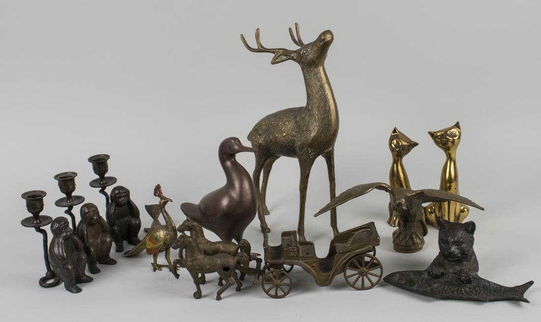Group of Metal Animal Decorations