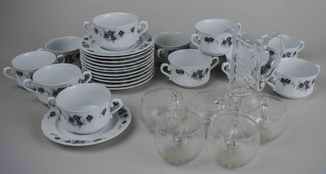 Echenbach Porcelain Cream Soup Bowl Set