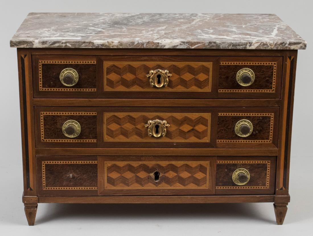 Miniature Marble Top Chest