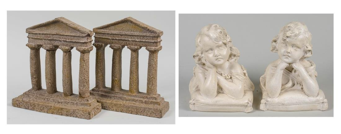 Two Pairs of Composition Bookends