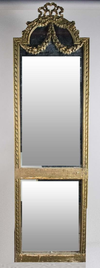 Neoclassical Style Gilt Wood Pier Mirror