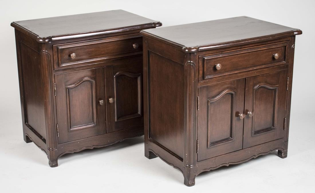Pair of Fruitwood Night Tables