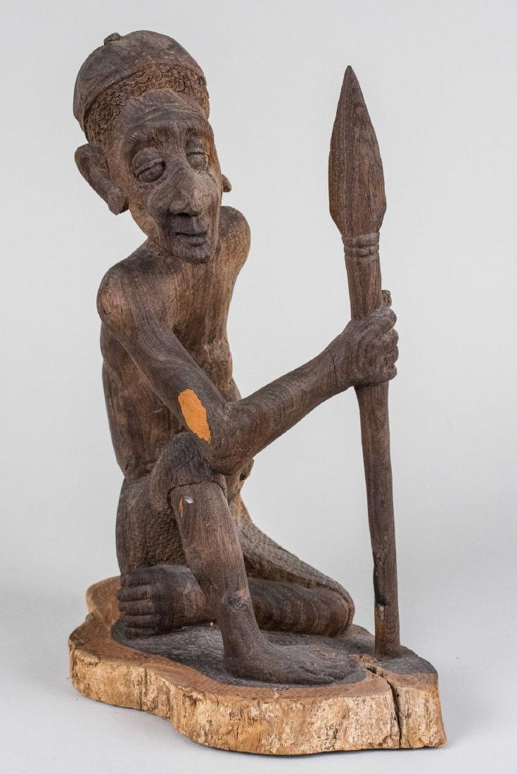 Tanzanian Wood Sculpture of a Man
