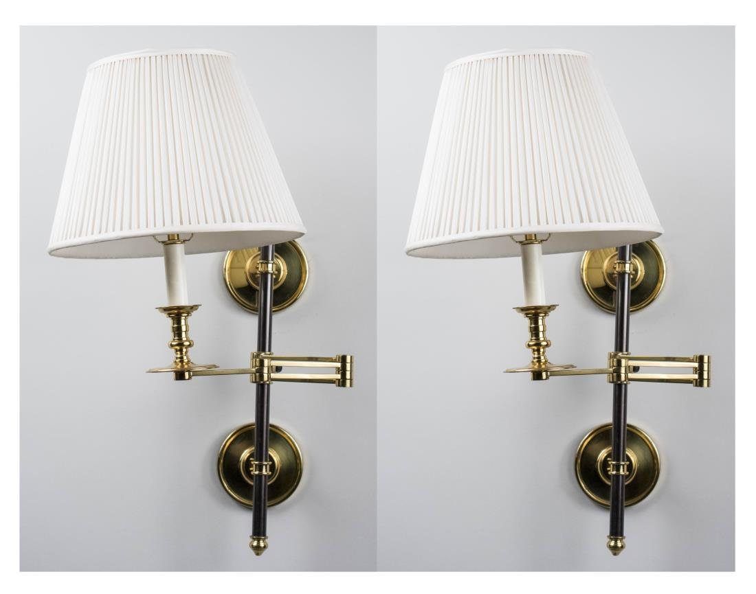 Pair of Swing Arm Sconces
