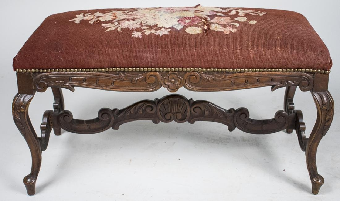 Louis XV Style Walnut Bench